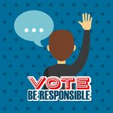 Elections day design royalty free illustration