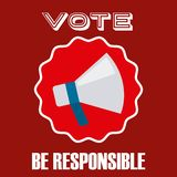 Elections day design Royalty Free Stock Photography