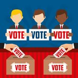 Elections day design stock illustration