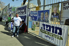 Elections day in Israel Stock Photos