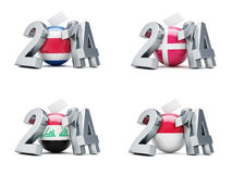 Elections in Denmark, Iraq, Indonesia 2014. Elections in Denmark, Iraq , Indonesia 2014 on a white background Stock Photography
