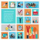 Elections Flat Icons Set Stock Photo