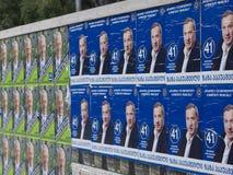 Elections in Georgia. Propaganda material of Ivanishvili in 2012 elections, Rustaveli street, Tbilisi stock photos