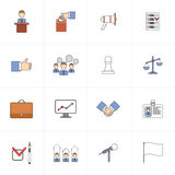 Elections icons set flat line stock illustration