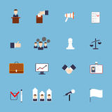 Elections icons set flat vector illustration