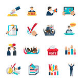 Elections icons set Royalty Free Stock Images