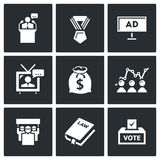 Elections icons. Vector Illustration. Royalty Free Stock Photos