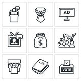 Elections icons. Vector Illustration. Stock Image
