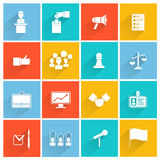Elections icons white set stock illustration