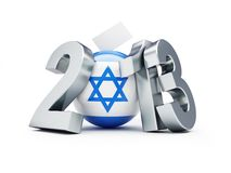 Elections in Israel 2013. 3d Illustrations on a white background Stock Illustration