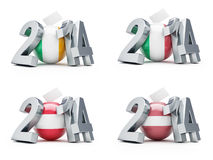 Elections in Italy, Austria, Latvia, Ireland 2014 Stock Photo