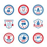 Elections labels set Royalty Free Stock Images