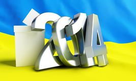 Elections in Ukraine 2014. On a white background Stock Image