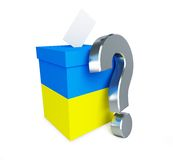 Elections in Ukraine question mark. On a white background Stock Photo