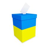 Elections in Ukraine. On a white background Royalty Free Stock Photography