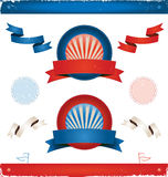 Elections In USA - Ribbons And Banners stock illustration