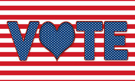 Elections - Vote Sign - Heart in place of 'O' royalty free illustration