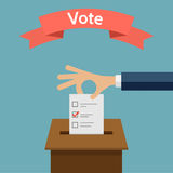 Elections Voting Concept Flat Style Vector Illustration Royalty Free Stock Photography