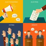 Elections and voting concept vector flat style background. Illustration for political campaign flyer, leaflets and websites. vector illustration