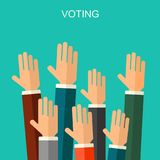 Elections and voting concept vector flat style background. Illustration for political campaign flyer, leaflets and websites. stock illustration