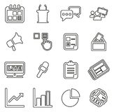 Elections or Voting Icons Thin Line Vector Illustration Set vector illustration