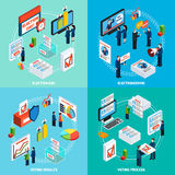 Elections And Voting Isometric 2x2 Design Concept Stock Images