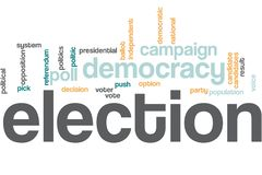 Elections word cloud royalty free stock photography