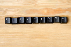 Elections word Royalty Free Stock Image