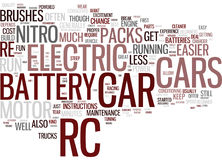 Electirc Rc Cars For Fun And Excitement Word Cloud Concept. Electirc Rc Cars For Fun And Excitement Text Background Word Cloud Concept Royalty Free Stock Image