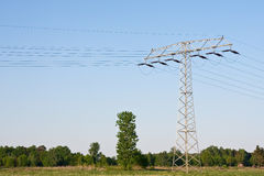 Electircal powerlines Royalty Free Stock Photography