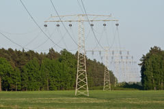 Electircal powerlines Stock Photography