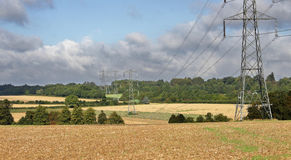Electiricty Pylons in an English Landscape Stock Photos
