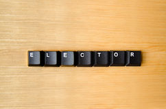 Elector word. With keyboard buttons royalty free stock photo