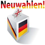 Electoral box with new german elections once again. For all Royalty Free Stock Photography