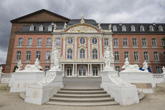 Electoral Palace of Trier. The Electoral Palace directly next to Royalty Free Stock Photo