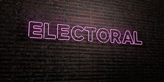 ELECTORAL -Realistic Neon Sign on Brick Wall background - 3D rendered royalty free stock image. Can be used for online banner ads and direct mailers Royalty Free Stock Photography
