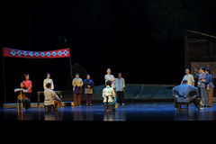 The electoral roll- Jiangxi opera a steelyard Stock Photography