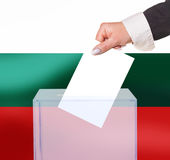 Electoral vote by ballot. Under the Bulgaria flag Royalty Free Stock Photography