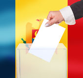 Electoral vote by ballot. Under the Moldova flag Stock Image