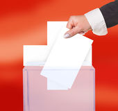 Electoral vote by ballot. Under the Switzerland flag Royalty Free Stock Photos