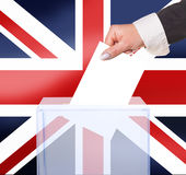Electoral vote by ballot. Under the United Kingdom flag Royalty Free Stock Image