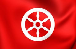 Electorate of Mainz Flag. Electorate of Mainz 3D Flag. Close Up Stock Photos