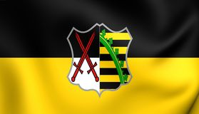 Electorate of Saxony Flag. 3D Electorate of Saxony Flag 1356-1806. Close Up Royalty Free Stock Photography