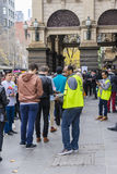 Electors and volunteers at Melbourne Town Hall Royalty Free Stock Photo