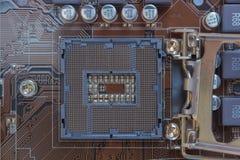 Electrónica de la placa madre fotos de archivo