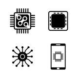 Electrónica Iconos relacionados simples del vector Fotografía de archivo libre de regalías