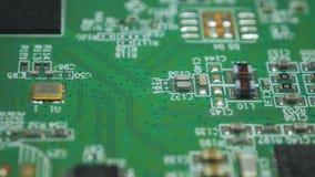 Electrónica impresa verde v04 de la placa de circuito metrajes