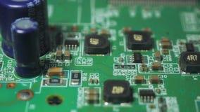 Electrónica impresa verde v01 de la placa de circuito metrajes