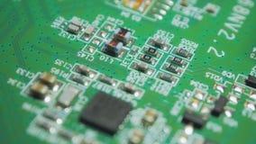 Electrónica impresa verde v02 de la placa de circuito almacen de video