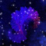 Electra Blue Nebula Royalty Free Stock Photo
